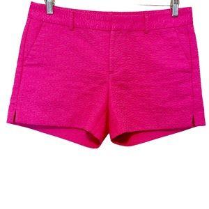 Banana Republic Hot Pink Textured Chino Shorts